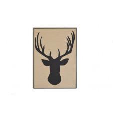 Drewniany obraz Jeleń