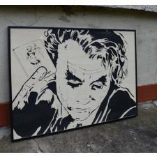 Drewniany obraz Joker