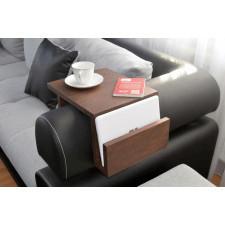 Drewniany podłokietnik, stolik kawowy