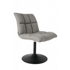 Dutchbone Krzesło obrotowe MINI BAR jasnoszare 1100258