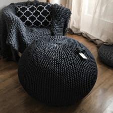 Duża Pufa Handmade-  usiądź i odpocznij ...70x40cm