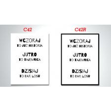duży OBRAZ  - CYTAT C42 i C42R - 70x50cm