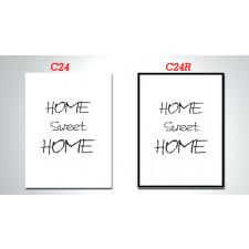 duży OBRAZ - CYTAT C24 i C24R - 70x50cm home sweet