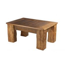 Duży stolik, ława -  stare drewno.