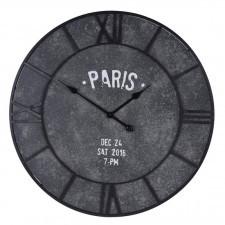 Duży szary zegar ścienny PARIS 75 cm