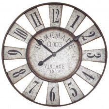 Duży zegar ścienny styl loft 72 cm