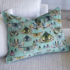 Dwustronna poduszka z wzormiami motyl 60x45cm Designers Guild
