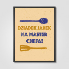 Dziadek master chef - wydruk personalizowany
