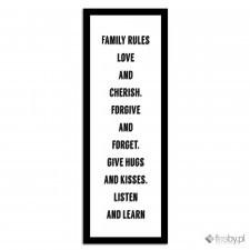 Family rules, Plakaty w ramie