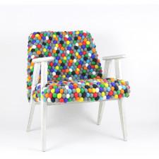 Fotel 366 w filcowych kulkach