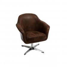 Fotel Presto vintage brązowy