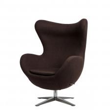 Fotel D2 Jajo melanż brązowy ciemny