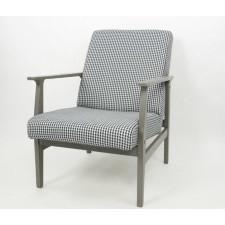 Fotel biało-czarna pepitka Vintage