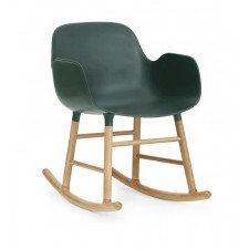 Fotel bujany Form drewno dębowe zielony