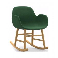 Fotel bujany Form tapicerowany drewno dębowe materiał Remix