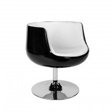 Fotel Cognac K-czarny, S-białe (L)
