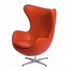 Fotel Jajo D2 skóra pomarańczowa