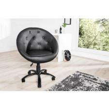 Fotel krzesło na kółkach Couture black 90-100cm