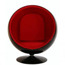 Fotel kula czarno-czerwony