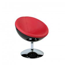 Fotel Mercury K-czarny, S-czerwone