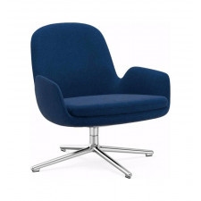 Fotel niski Era obrotowy rama aluminiowa materiał Fame Hybrid