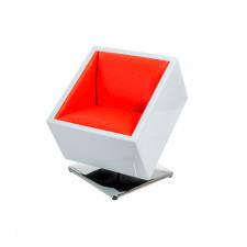 Fotel obrotowy D2 Zox biało-czerwony