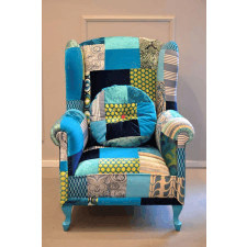 Fotel Patchwork Blue Juicy Colors