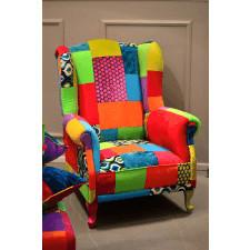 Fotel patchwork Mango