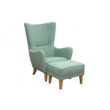 Fotel ROMEO z podnóżkiem tkanina Orion