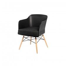 Fotel Viva czarny z grafitową poduszką