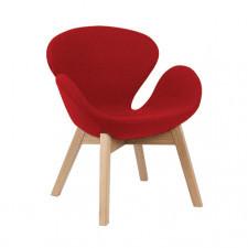 Fotel w stylu skandynawskim czerwony