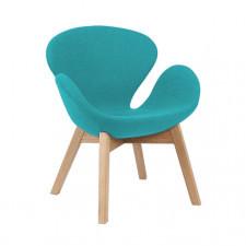 Fotel w stylu skandynawskim turkusowy