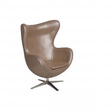 Fotel z ekologicznej skóry Jajo 530 perłowy