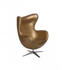 Fotel z ekologicznej skóry Jajo 531 złoty