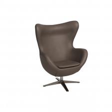 Fotel z ekologicznej skóry 82x110x74cm Jajo 533 khaki