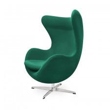 Fotel z wełny kaszmirowej King Home EGG zielony