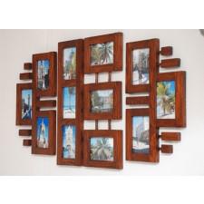 Galeria ścienna Ramki na zdjęcia drewniane drewno