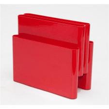 Gazetnik BS01 inspirowany Giotto Stoppino - czerwony