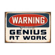 Geniusz w pracy, Obraz na płótnie - Canvas