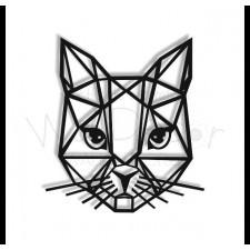 Geometryczna głowa kota- dekoracja na ścianę
