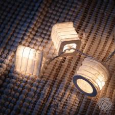 Girlanda z 20 Papierowych Lampioników Białe