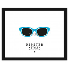 Glasses - hipster style 2, Plakaty w ramie
