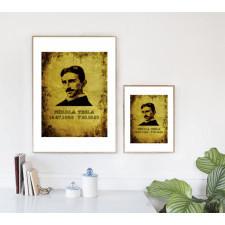 Grafika steampunkowa - Nikola Tesla