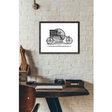 Grafika vintage - Tricykl pocztowy