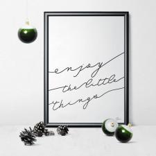 gumberry plakat ENJOY the little things 30x40 cm