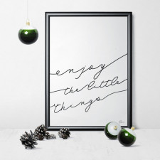 gumberry plakat ENJOY the little things 40x50cm