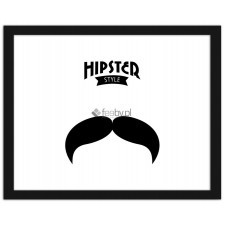 Hipster - moustache 3, Plakaty w ramie