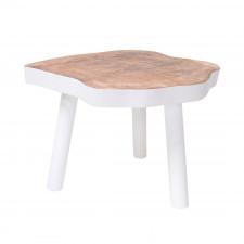 HK Living stolik w kształcie pnia drewna L biały HAP6206
