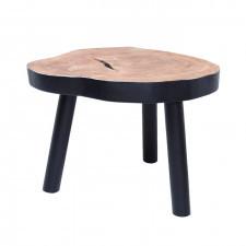 HK Living Stolik w kształcie pnia drewna L czarny HAP6205