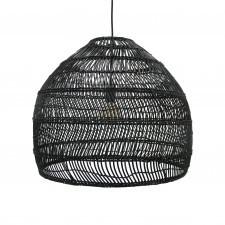 HK Living Wiklinowa lampa wisząca czarna, rozmiar M VOL5016